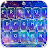 Live Galaxy Neon Keyboard Theme Icône