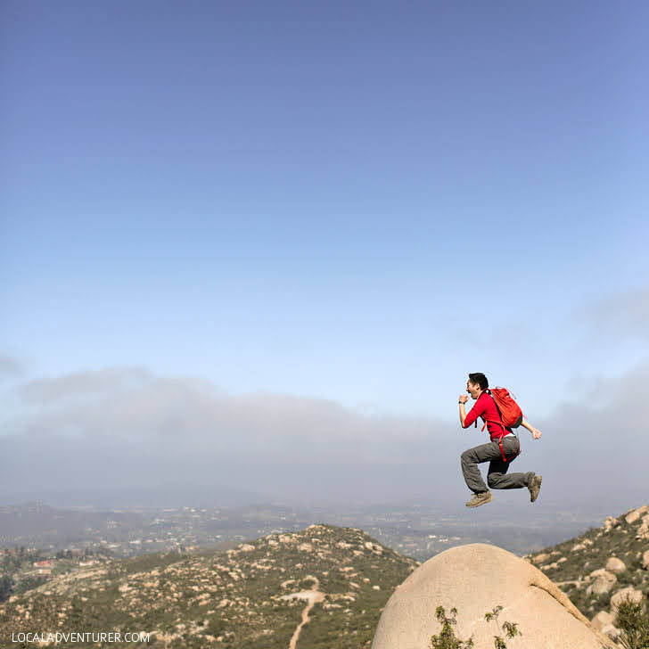 Hiking Potato Chip Rock Poway.