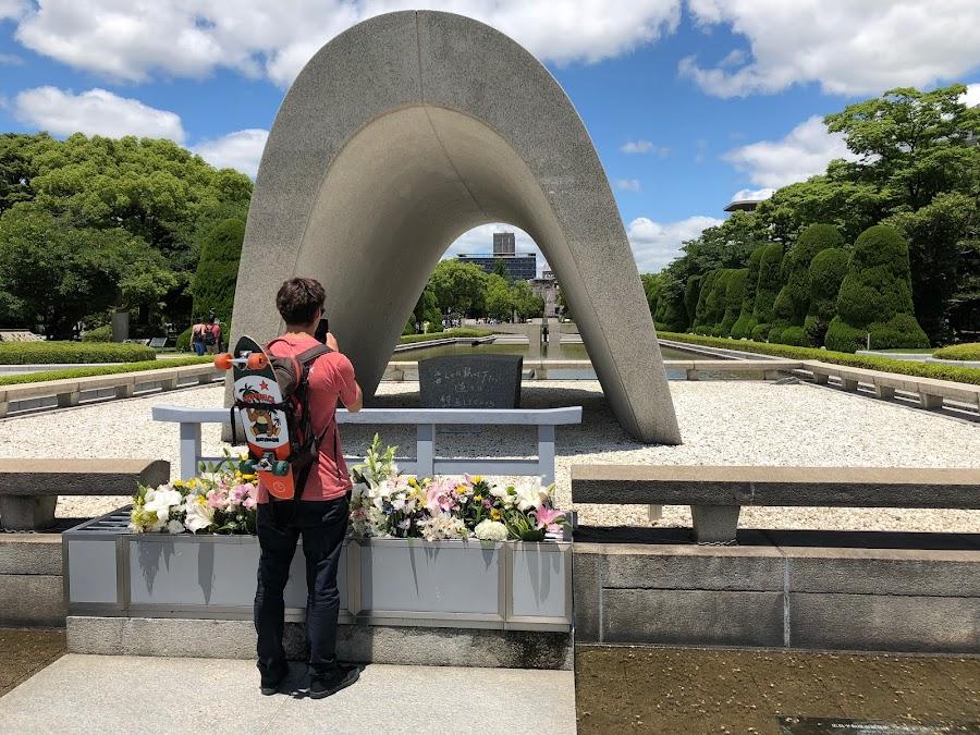 Memorial outside the musem
