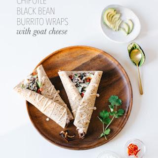 Chipotle Black Bean Burrito Wraps with Goat Cheese.