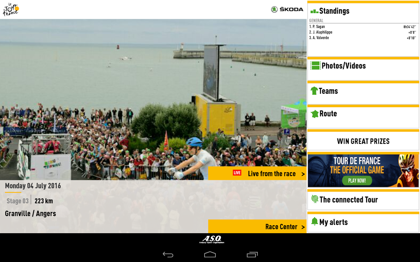 TOUR DE FRANCE 2016 by ŠKODA- screenshot