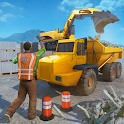Heavy Crane Excavator Construction Transport icon