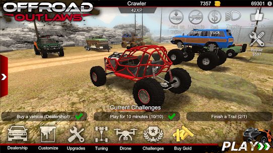 Offroad Outlaws Mod Apk 4.8.1 (Unlimited Money + Golds + Coins) 1