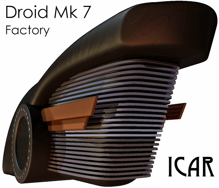 Photo: A rear shot of the Droid Mk 7 factory.