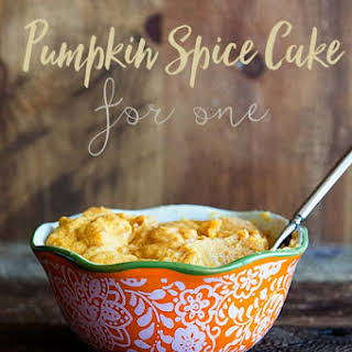 Pumpkin Spice Cake for One.