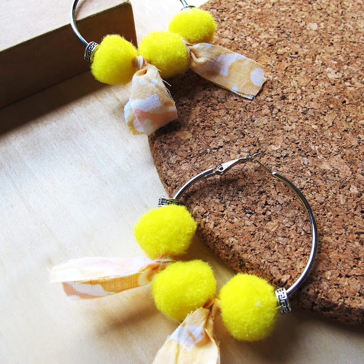 Boho Hoop Earrings #Pink Lemonade by Wild Whimsies