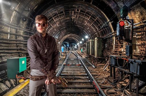 Steampunk Tunnel People Digital Art Pixoto