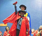 EFF spokesperson Mbuyiseni Ndlozi receives his PhD in Political Sciences.