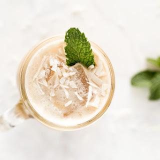 Iced Caramel Coconut Mint Latte.