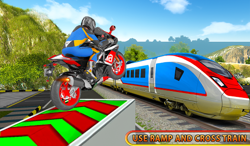 Moto Bike Stunt On Train