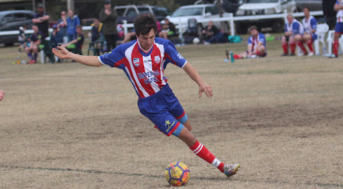 Wee Waa United FC striker Nathan Hamblin scored his side's only goal in a 1-0 win on Saturday against league leaders Narrabri FC. Hamblin has now scored six goals in three games, two of which were match winners.