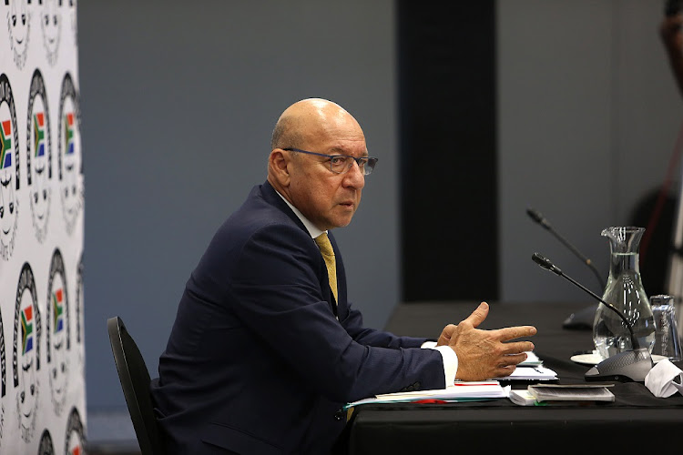 Probe: Former finance minister Trevor Manuel at the Zondo commission of inquiry into state capture, February 28 2019. Picture: ALON SKUY