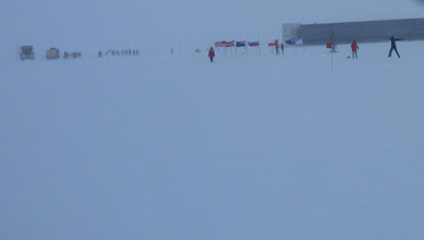 Photo: The finish line at last.  On the right, the tack monitor cheering us on.