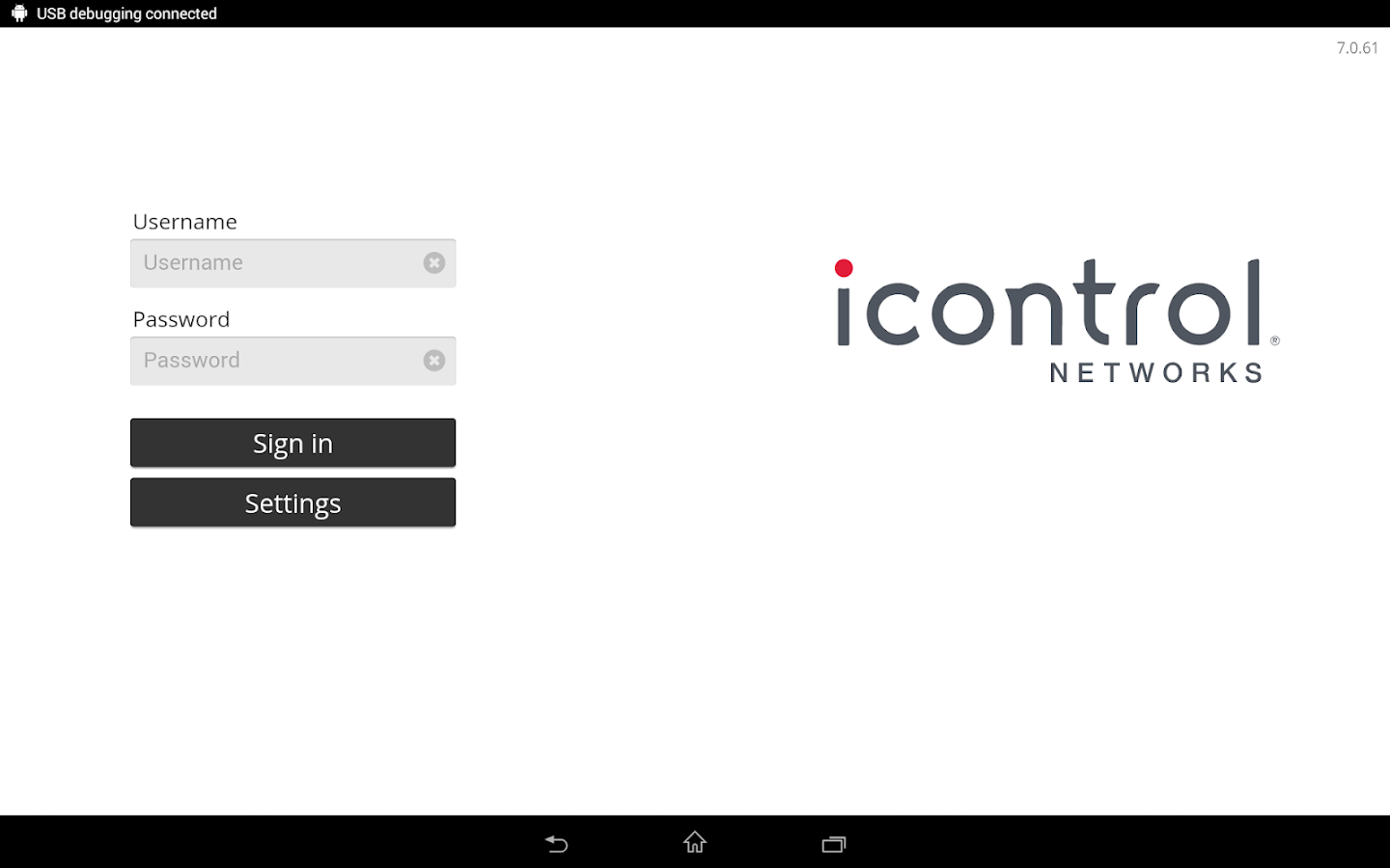 Icontrol Networks- screenshot