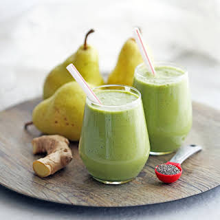 Healthy Pear Ginger Chia Smoothie.
