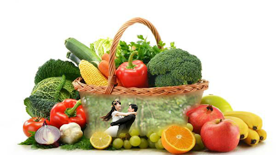 Fruit Vegetable photo frames screenshot