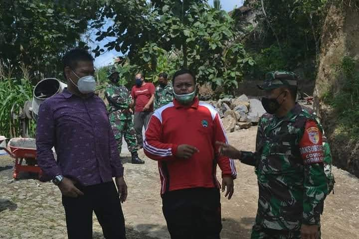 Lokasi TMMD Magetan Ditinjau Ketua DPRD