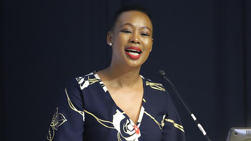 Minister of communications and digital technologies, Stella Ndabeni Abrahams.