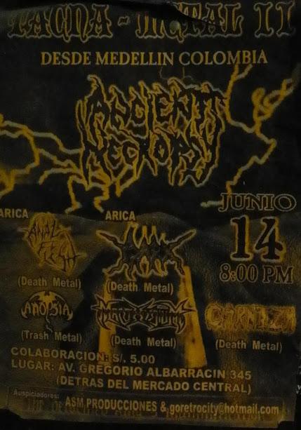 bandas de metal colombianas que han tocado en el exterior fuera del pais