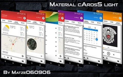 Material cArdsS for KLWP v1.0