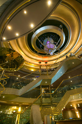 The pretty atrium on ms Westerdam from Holland America.