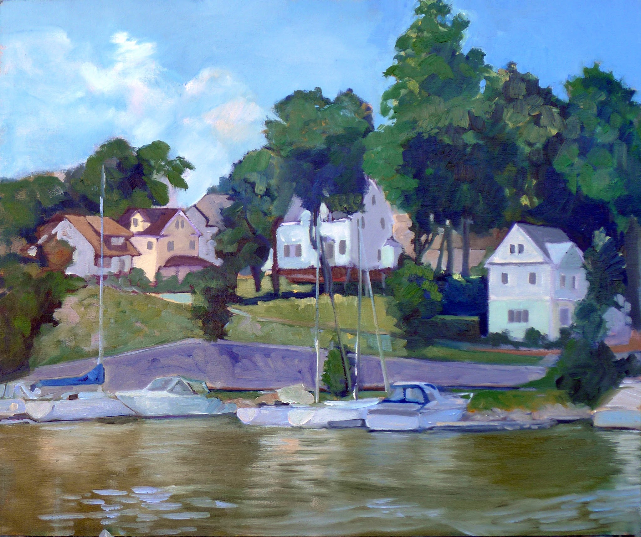 Photo: Safe Harbor, 20X24, oil on canvasboard.