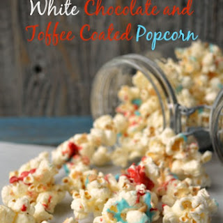 White Chocolate and Toffee Coated Popcorn