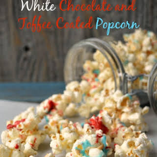 White Chocolate and Toffee Coated Popcorn.
