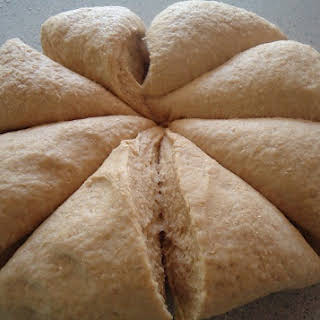 Homemade Whole Wheat Pita Bread.