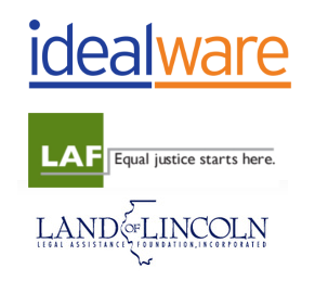 Logos of Idealware, LAF Chicago, and LoL Legal Assistance