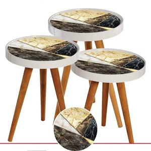 Set masute de cafea, design modern, diametru 39 cm - RS166