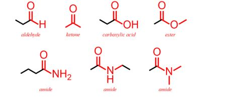 list of functional groups