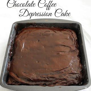 Chocolate Coffee Depression Cake.