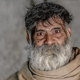 The Living Book by Furrukh Shahzad - People Portraits of Men ( wrinkles, beard, oldman, people, portrait,  )