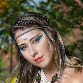 Boho chic 1 by Eric Bureau - People Portraits of Women ( boho chic, lac beauchamp, amerindienne, melanie richard, photoshoot )
