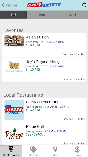 OrderOnMyWay Tulsa Ordering