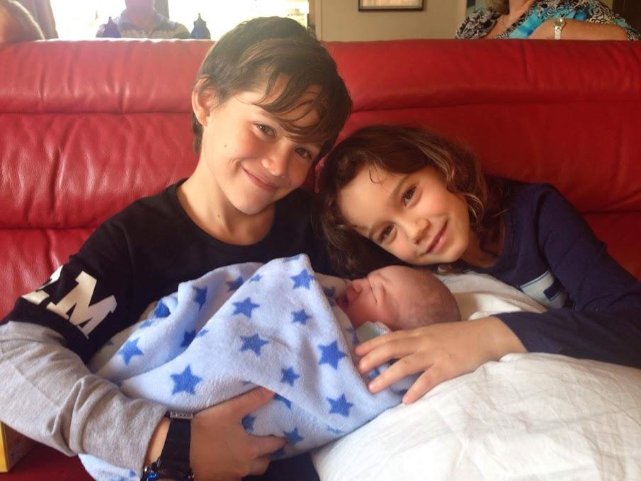 Noah, Aaliyah and baby Elijah