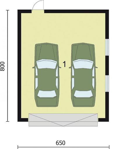 G2 - Rzut garażu