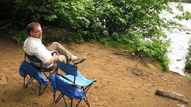 Photo: camping au bord de La Malbaie.. ( que de souvenirs.. j'ai faite cette rivière du Barrage des Érables jusqu'à Clermont en canot-camping la fds de l'action de grace en 1974! )