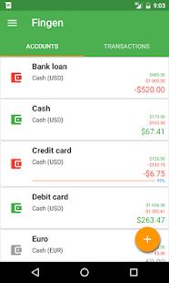 Fingen Expense Manager - náhled