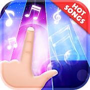 Black White Piano Tiles Magic - Relax with Music