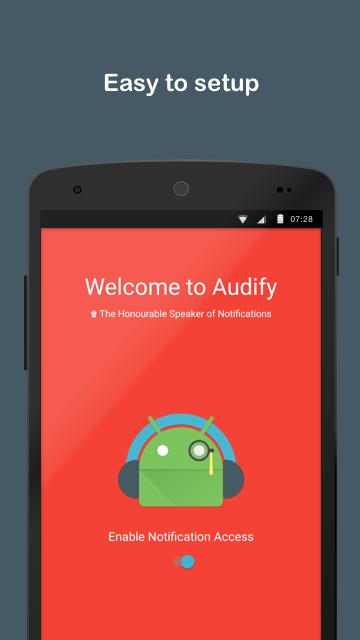 Audify Notifications Reader Screenshot 0