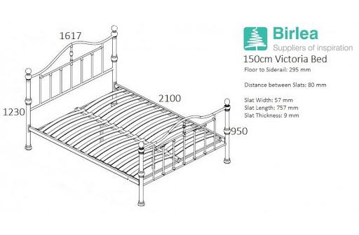 Birlea Victoria Bed Frame Black Nickel