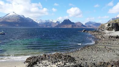 Photo: Isle of Skye - Elgol - Au fond les montagnes Cuillings