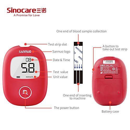 4. Sinocare เครื่องตรวจวัดระดับน้ำตาล รุ่น Safe AQ Smart  02