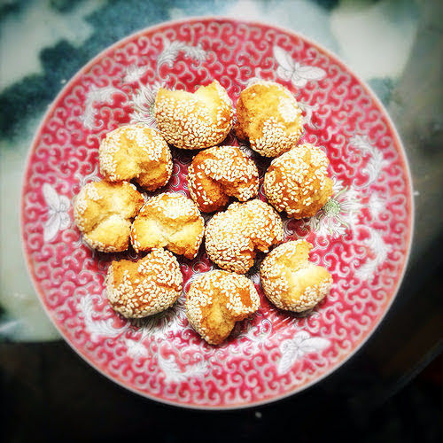 Balls, chinese, cookie, Laughing, laughing cookie, recipe, sesame, Smiling, smiling cookie, 笑口棗, 開口笑