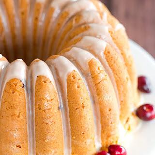 Cranberry Pound Cake with Orange Glaze