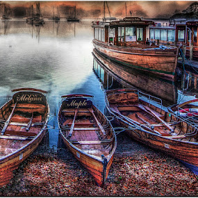 by Stephen Hooton - Digital Art Places ( edited with sun, lakes, boat,  )