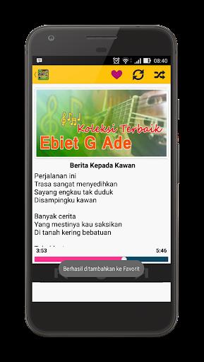 Lirik g lagu kepada ebiet ade kawan download berita