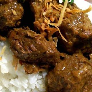 Malaysian Beef Rendang.
